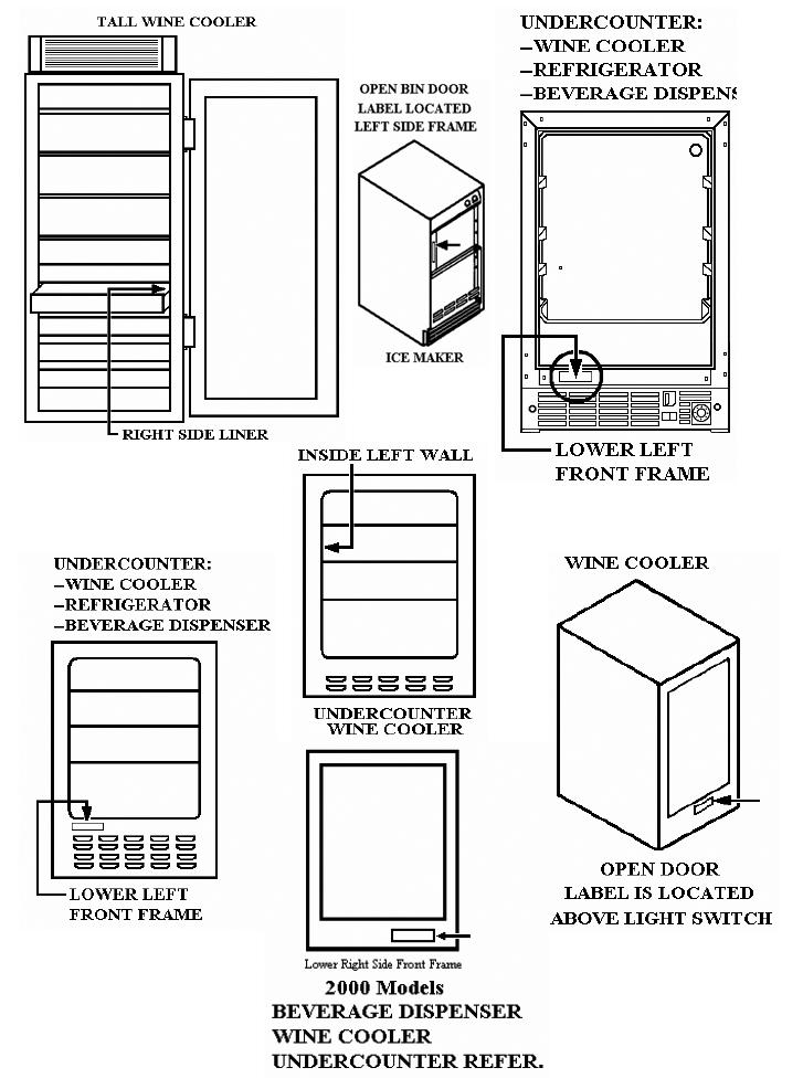 u line refrigerator parts