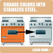 Viking Range Parts >> Convert Your Viking Appliance From Color To Stainless With Viking