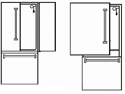 locate your viking model and serial number for viking standing refrigerators french door and bottom mount and side by side look on top right hand side interior side wall